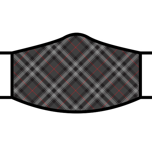 Face Mask by Rain Capers - Grey Plaid