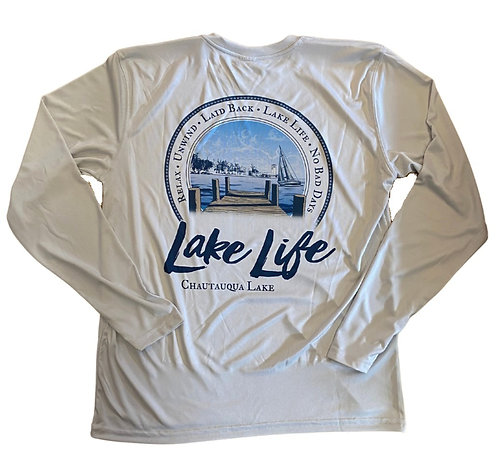 Chautauqua Lake Sun Protection Shirt in Pearl Gray