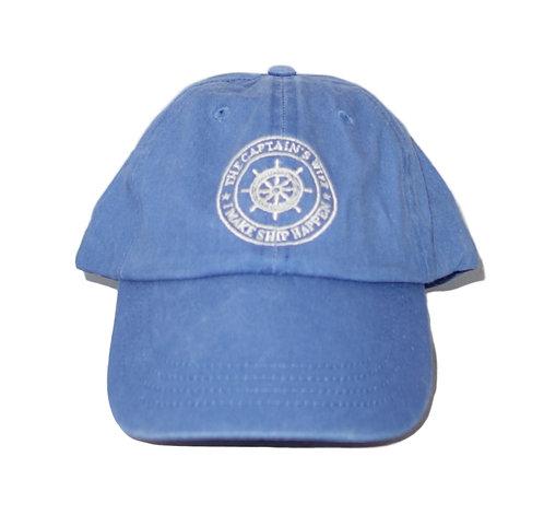 Chautauqua Lake Baseball Hat - I'm the Captain's Wife, I Make Ship Happen Blue