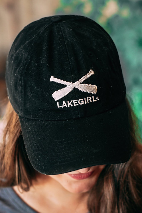 Lakegirl Baseball Cap in Black