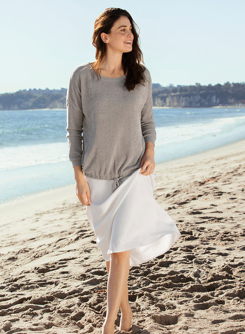 Barefoot Dreams Slouchy Pullover in Beach Rock
