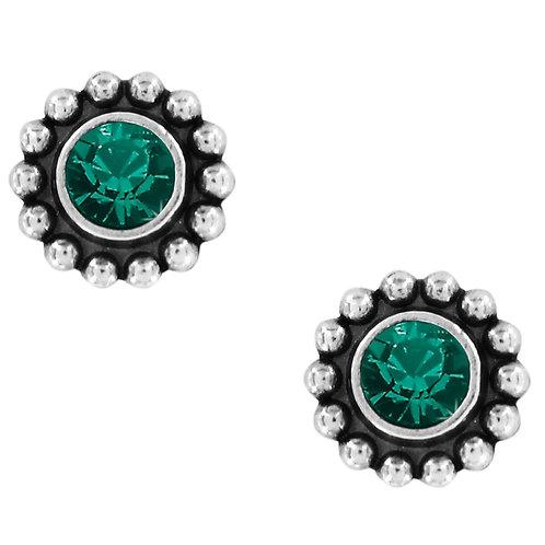 Brighton Twinkle Mini Post Earrings in Emerald