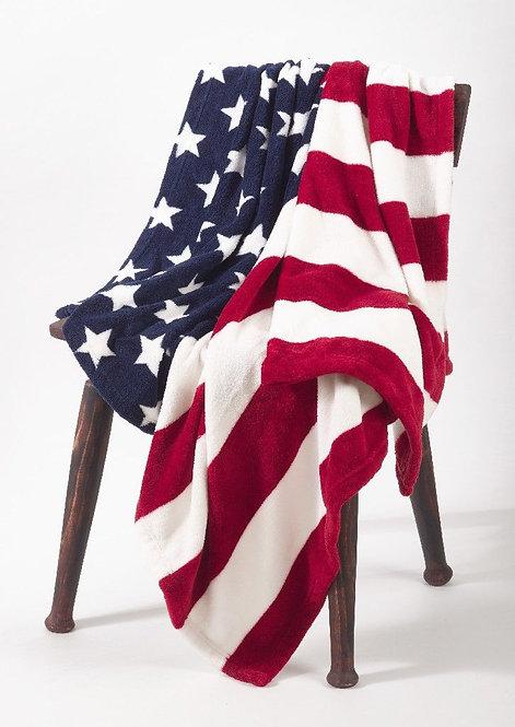 Fleece Throw Blanket - American Flag