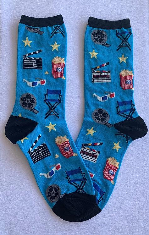 Womens Socks - Movie Night