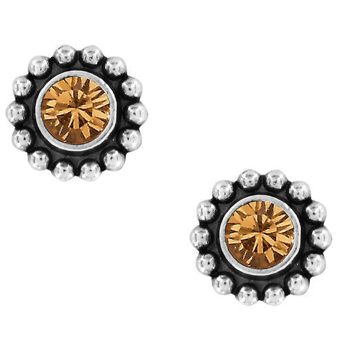 Brighton Twinkle Mini Post Earrings in Topaz