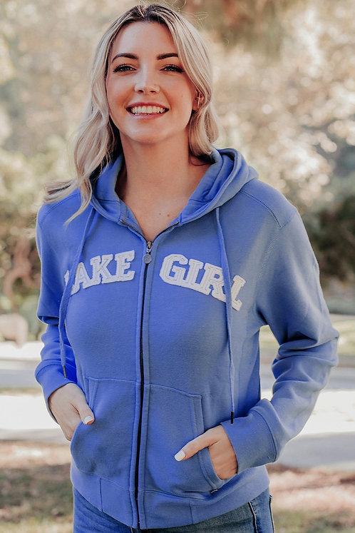 Lakegirl Full Zip Hoodie in Periwinkle