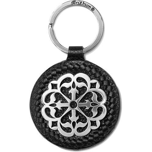 Brighton Ferrara Black Leather Key Fob