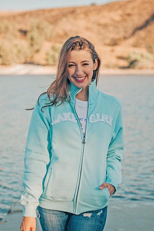 Lakegirl Track Jacket in Surf