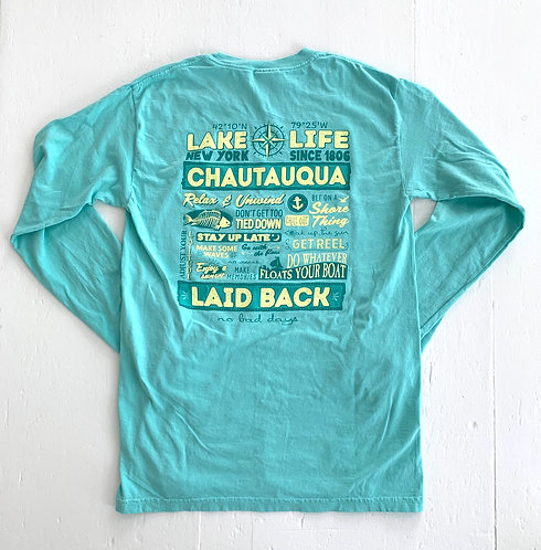 Chautauqua Lake Long Sleeve T-Shirt: Lake Rules