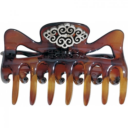 Brighton Geneva Hair Clip in Tortoise