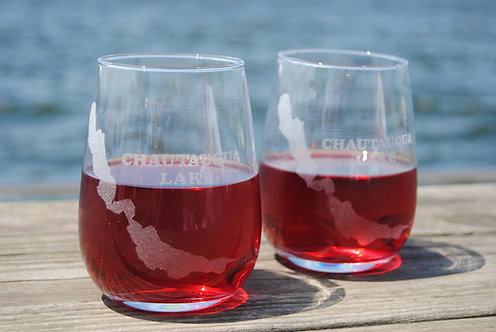 Chautauqua Lake Wine Glass