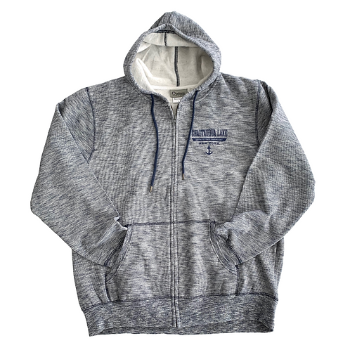 Chautauqua Lake Zip-Up Sweatshirt: Escape the Ordinary in Navy