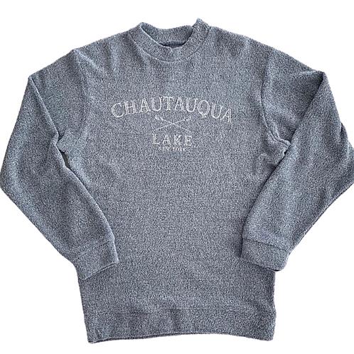 Terrycloth Chautauqua Lake Sweatshirt in Steel Blue