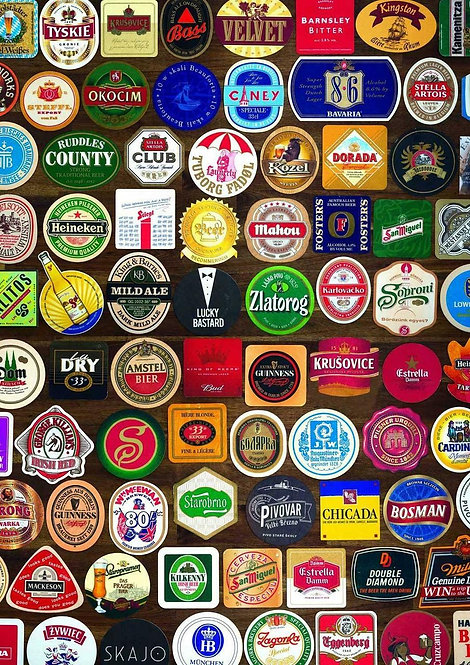 1000 Piece Puzzle - Beer Coasters