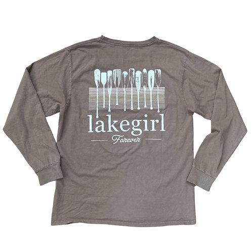 Lakegirl Forever Long Sleeve Tee in Mocha