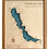 """Thumbnail: 24"""" x 30"""" Laser Cut Map - Chautauqua Lake in Cherry Frame"""