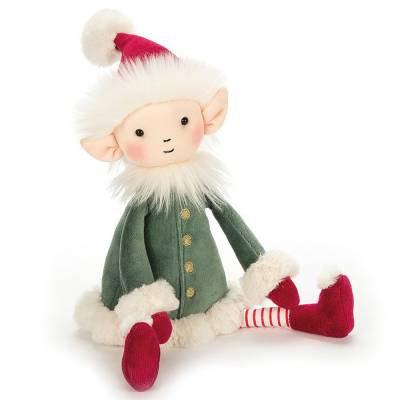 "Jellycat Leffy the Christmas Elf - 19"""