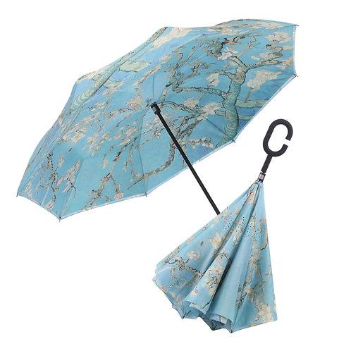 Inverted Umbrella by Rain Capers - Van Gogh's Almond Blossom