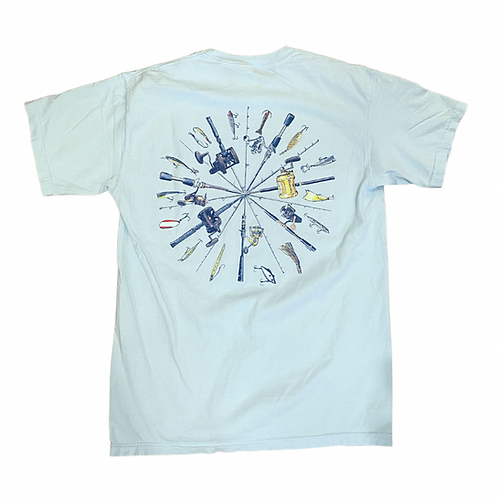 Chautauqua Lake Short Sleeve T-Shirt: Fishing Poles