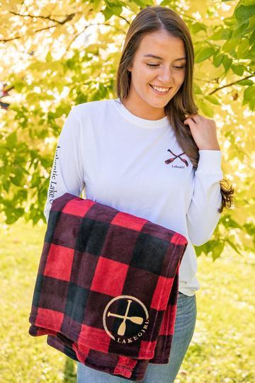 Lakegirl Fleece Blanket in Buffalo Plaid