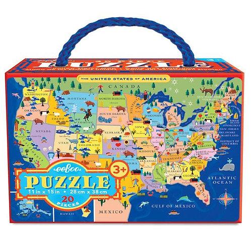 20 Piece Puzzle - United States