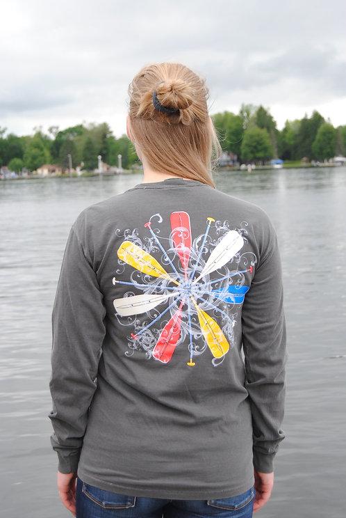 Chautauqua Lake Long Sleeve T-Shirt: Colorful Oars