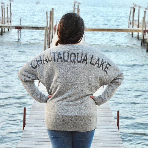 Chautauqua Lake Spirit Jersey - Gray & Glitter