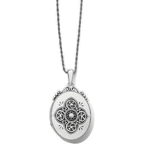 Brighton Etoile Oval Convertible Locket Necklace