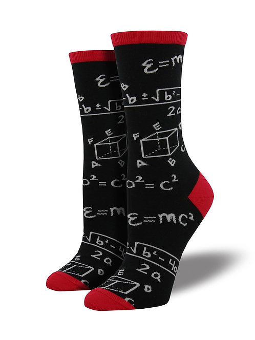 Womens Socks - Math