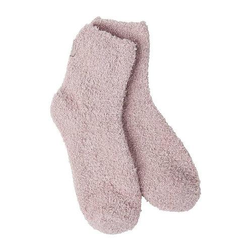 World's Softest Cozy Sock in Adobe Rose