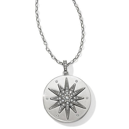 Brighton Contempo Ice Starburst Convertible Locket Necklace
