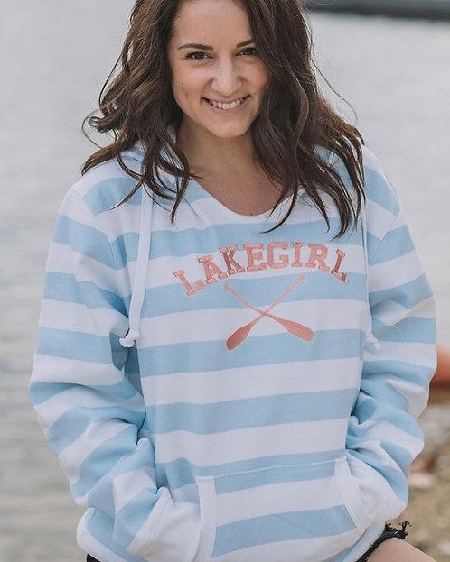 Lakegirl Striped Hoodie in Surf