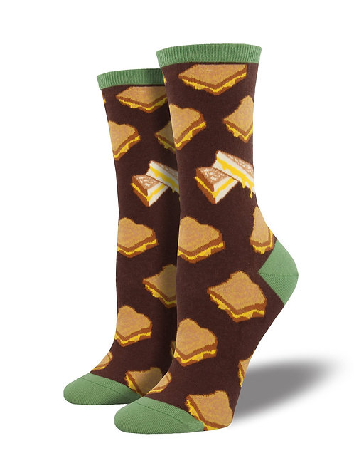 Womens Socks - Grilled Cheese