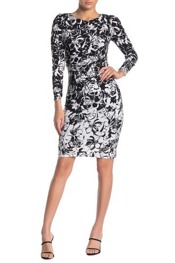 Taylor Long Sleeve Floral Print Dress