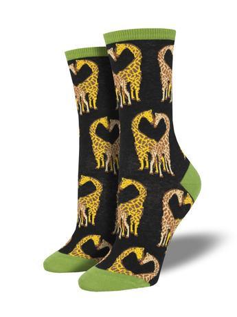Womens Socks - Giraffe