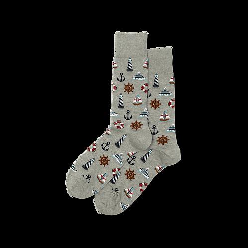 Mens Socks - Nautical Icons