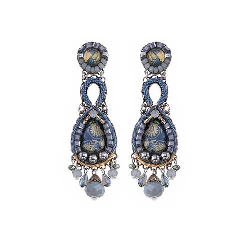 Fabric and Crystal Earrings - Magic Potion