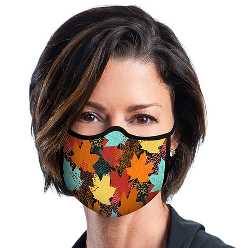 Face Mask by Rain Capers - Leaves