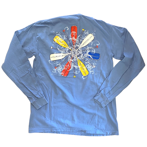 Chautauqua Lake Long Sleeve T-Shirt: Paddle Wheel