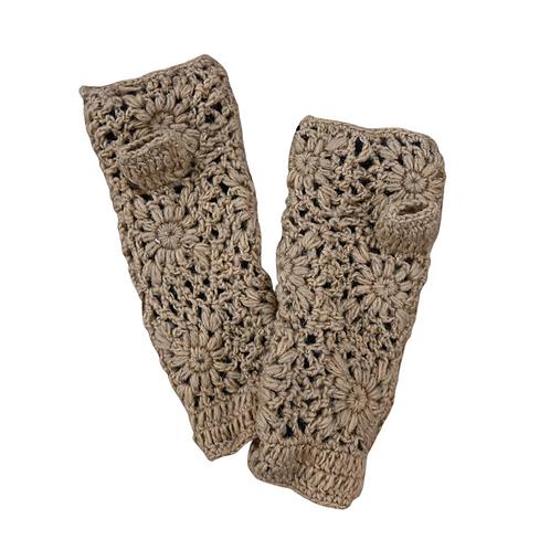 Fingerless Gloves in Tan