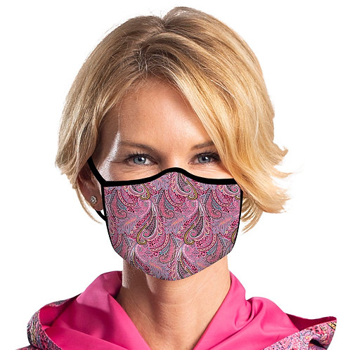 Face Mask by Rain Capers - Pink Paisley