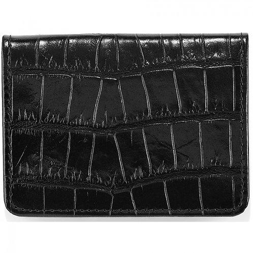 Brighton Rockefeller Flip Wallet in Black