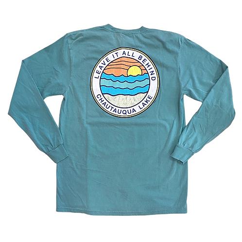 Chautauqua Lake Long Sleeve T-Shirt: Leave it All Behind