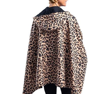 Rain Caper - Black/Leopard