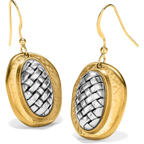 Brighton Ferrara Artisan Two Tone French Wire Earrings