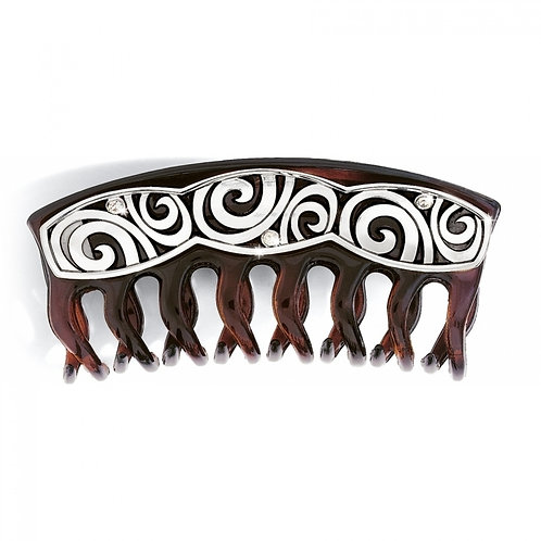 Brighton London Groove Large Hair Clip in Brown