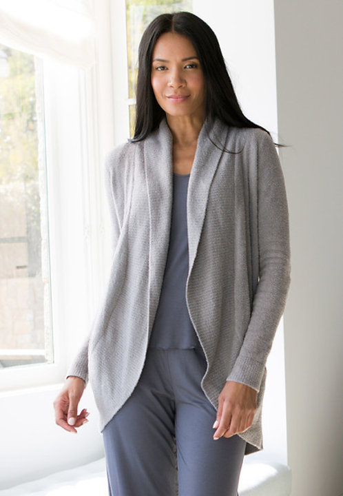 Barefoot Dreams Circle Cardigan in Pewter