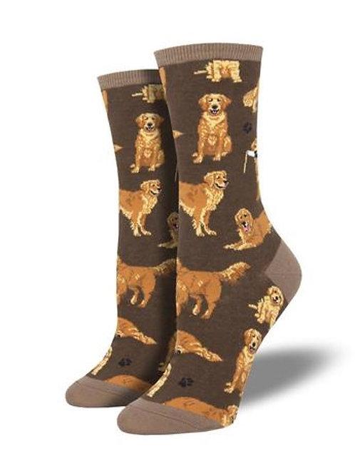 Womens Socks - Golden Retriever