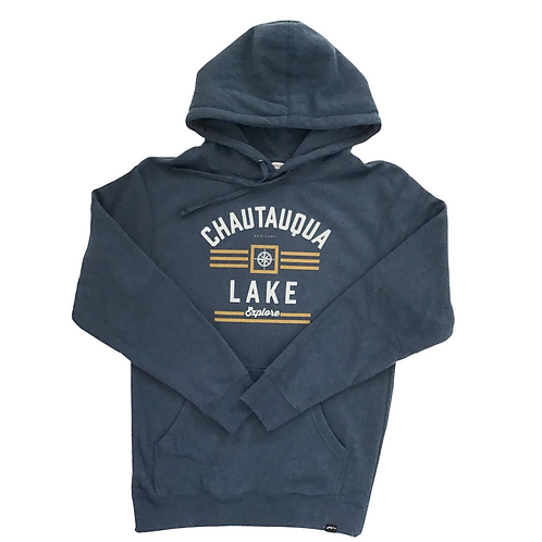 Chautauqua Lake Hoodie - Explore in Heathered Indigo