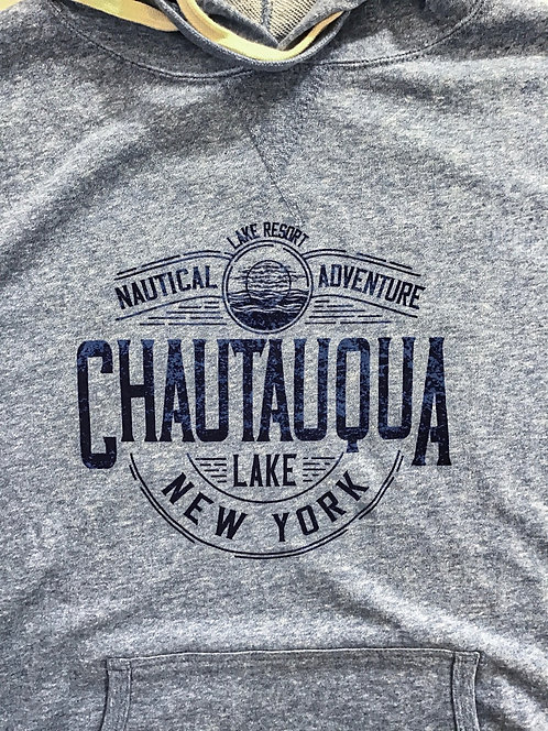 Chautauqua Lake Hoodie - Nautical Adventure in Sky Heather